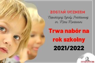 Nabór na rok szkolny 2021/2022 trwa!